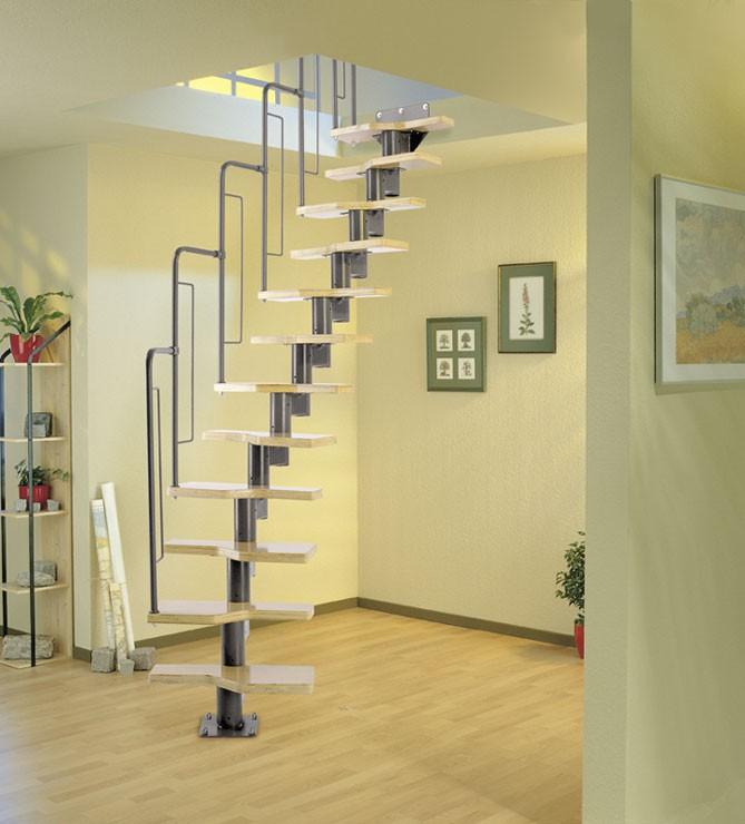 Модульная лестница Dolle «Graz» Прямая, Ширина марша 580 мм, Рег.высота 2405-2925 мм, 12 ступеней