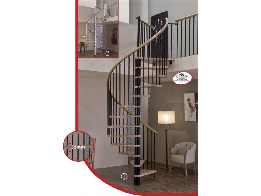 Винтовая лестница Spiral Decor диаметр 160 см, черный