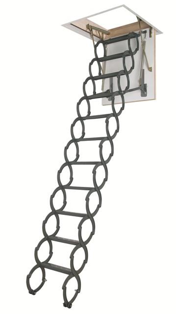 Металлическая термоизоляционная лестница LST 60х90x260-280 FAKRO