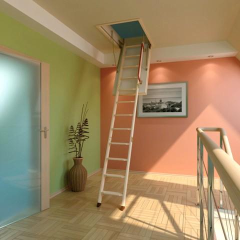 Термоизоляционная складная чердачная лестница LTK 70x120x280 FAKRO