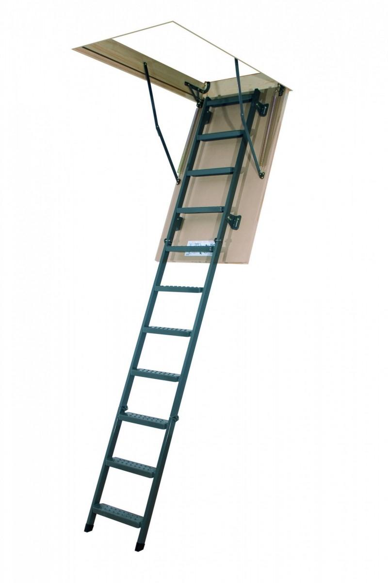 Складная металлическая лестница LMS 70x120x280 FAKRO