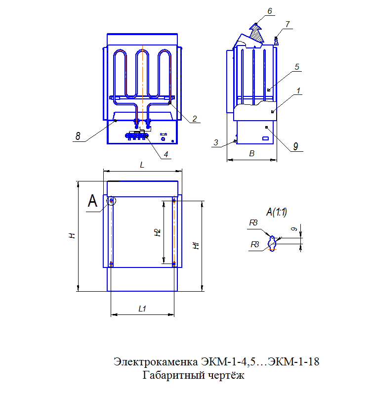 Электрическая печь ЭКМ 1-6, ДЕЛСОТ
