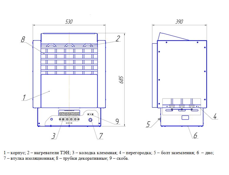 Электрическая печь ЭКМ 1-9 Престиж, ДЕЛСОТ
