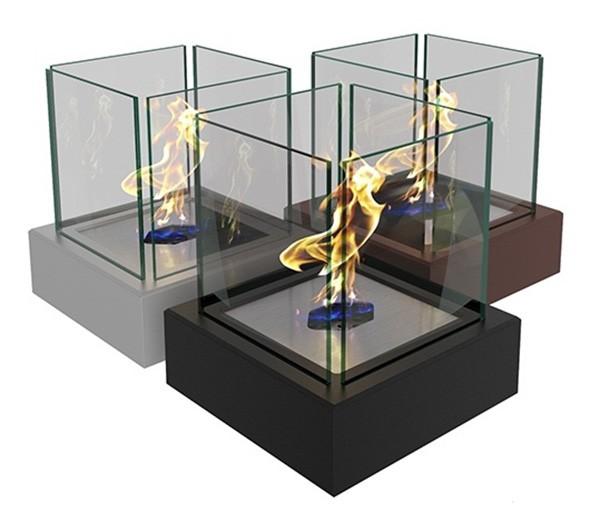 Биокамин ZeFire Quant metal белый