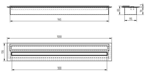 Прямоугольный контейнер ZeFire 1000 PREMIUM