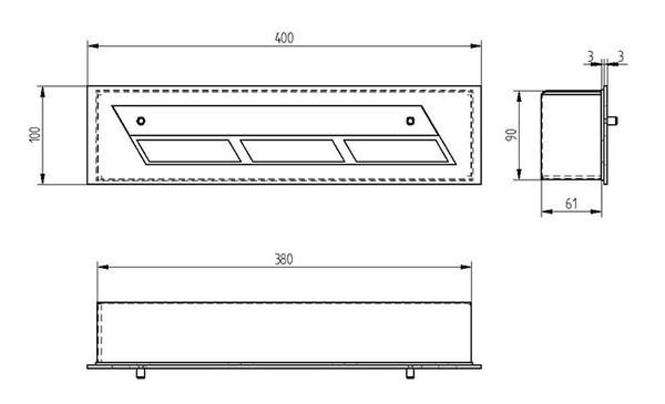 Прямоугольный контейнер ZeFire 400