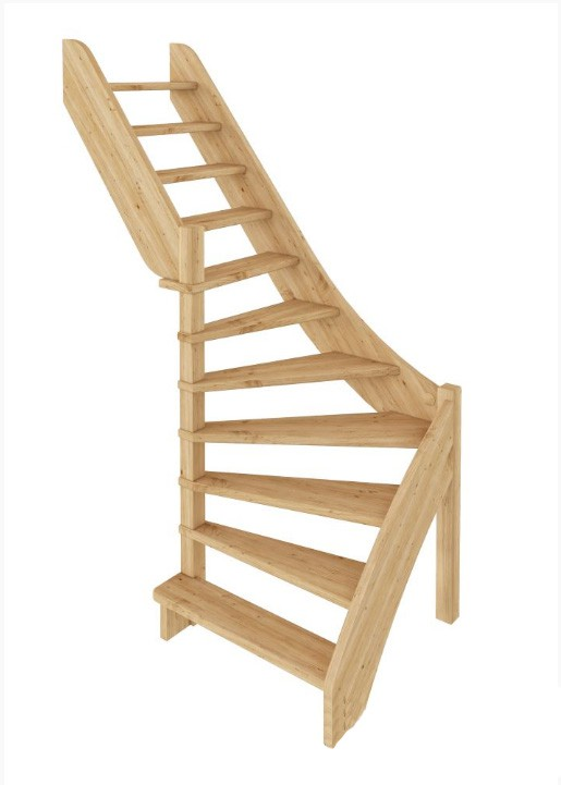 Лестница из сосны ЛС-92м (вариант №1) Левая