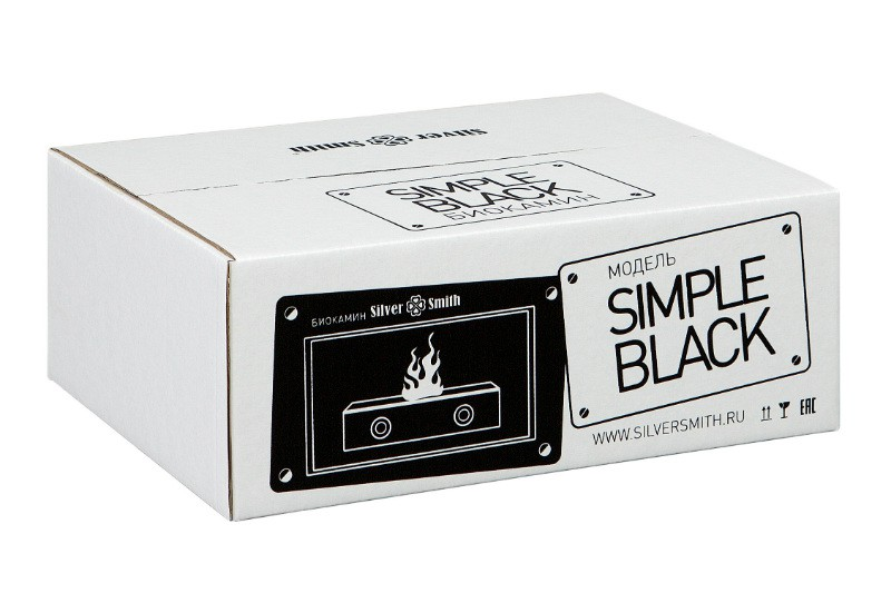 Биокамин Silver Smith Simple Black