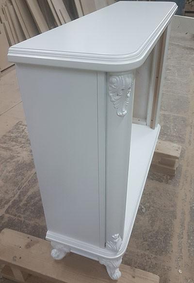 Электрокамин пристенный Версаль Белая эмаль с очагом Rondo S86
