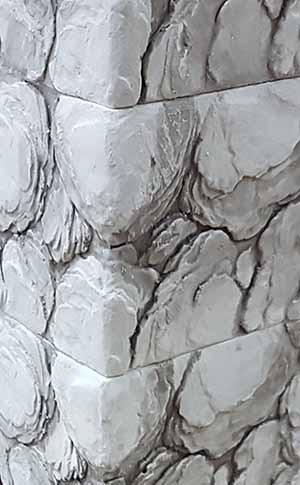 Электрокамин пристенный Арочный Карелия/Беленый дуб с очагом Majestic black