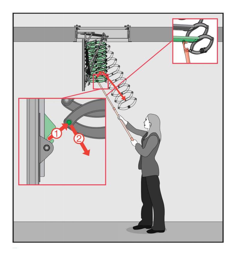 Металлическая термоизоляционная лестница LST 70х80x260-280 FAKRO