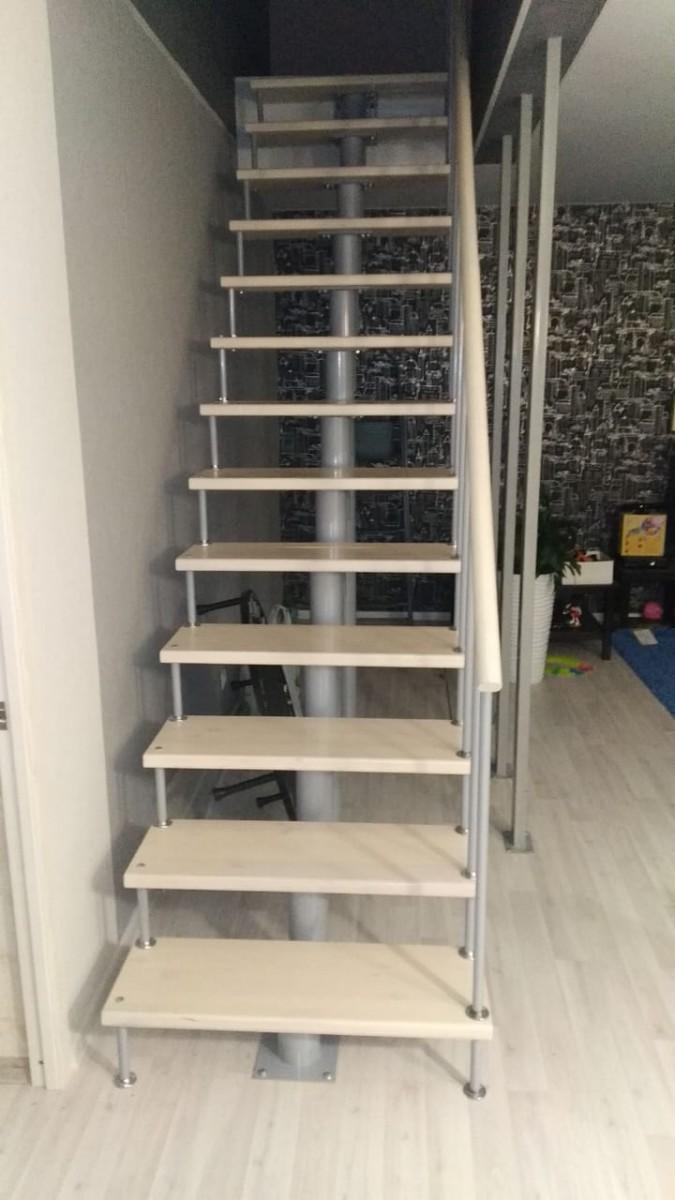 Модульная лестница высота 3240 мм (прямой марш) высота ступени 180 мм