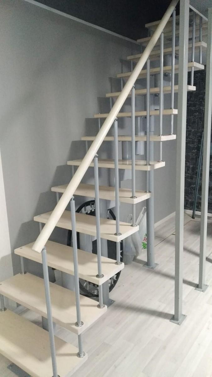 Модульная лестница высота 3150 мм (прямой марш) высота ступени 225 мм