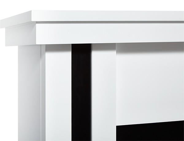 Электрокамин пристенный Trend Classic Белый/Черный с очагом Classic EFP/P-1020LS