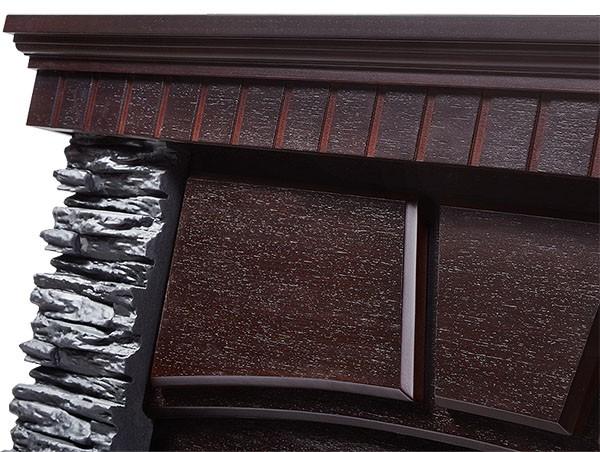 Электрокамин угловой Porto 30 U Венге/Сланец черный с очагом EFP/P - 3020LS