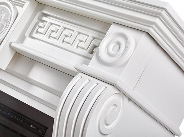 Электрокамин пристенный Vittoriano 30 Белый с очагом EFP/P - 3020LS