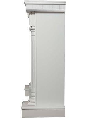 Электрокамин пристенный Rome 30 Белый с очагом EFP/P - 3020LS
