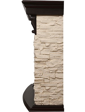 Электрокамин пристенный Torre 30S Венге/Сланец слоновая кость с очагом EFP/P - 3020LS