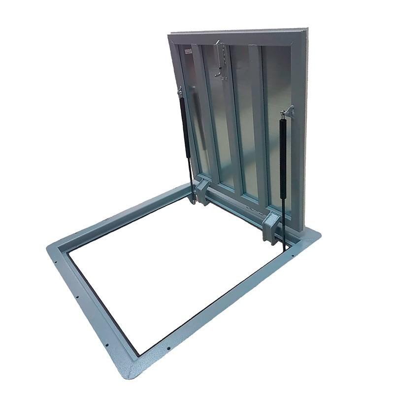 Напольный люк с амортизаторами 1000 (петли)*800 КОНТУР-ЭКОНОМ (Винт/ручка)