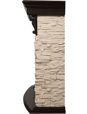 Электрокамин пристенный Torre 30S Венге/Сланец слоновая кость с очагом Sphere Plus EFP/P - 3320RLS