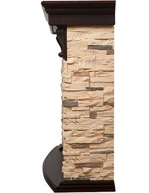 Электрокамин пристенный Torre 25S Темный дуб/Сланец натуральный с очагом EFP/P - 2520LS