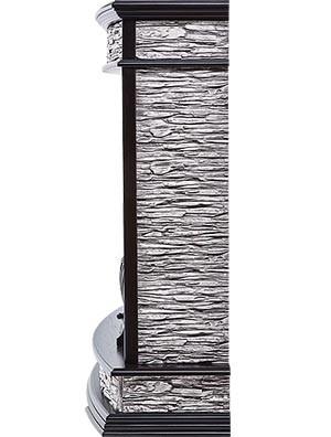 Электрокамин пристенный Scala Classic Венге/Сланец скалистый серый с очагом Classic EFP/P-1020LS