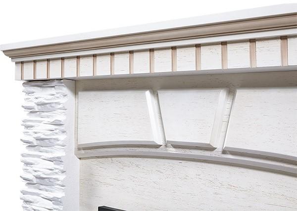 Электрокамин пристенный Porto Classic Беленый дуб/Сланец белый с очагом Classic EFP/P-1020LS