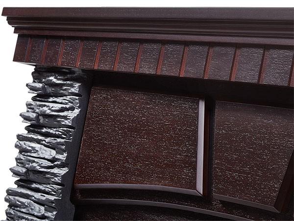 Электрокамин пристенный Porto 30 Венге/Сланец черный с очагом EFP/P - 3020LS