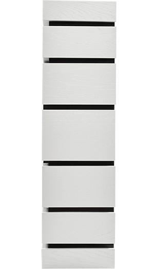 Электрокамин пристенный Moderno 25 Белый дуб с очагом EFP/P - 2520LS
