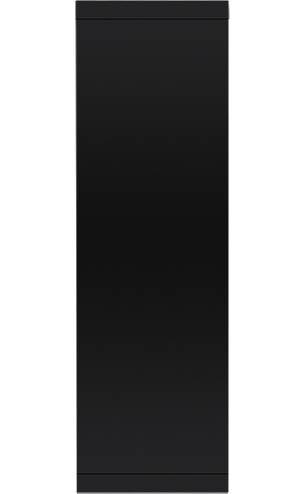 Электрокамин пристенный Loft 30 Черная эмаль/Сланец черный с очагом EFP/P - 3020LS