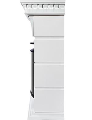 Электрокамин пристенный Elegante 30 Белый с очагом EFP/P - 3020LS