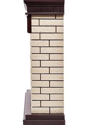 Электрокамин пристенный Bricks 30 Темный дуб/Кирпич бежевый с очагом EFP/P - 3020LS