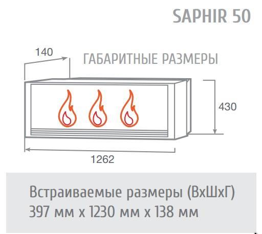 Электроочаг Saphir 50