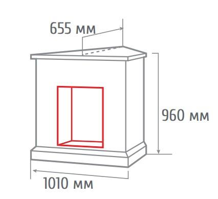 Электрокамин угловой Dominica corner DN с Olympic 3D