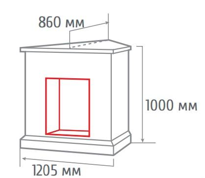 Электрокамин угловой 3D Silvia corner AO с Cassette 630 3D