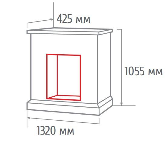 Электрокамин угловой Stone corner new 26 AO с Epsilon 26 S IR