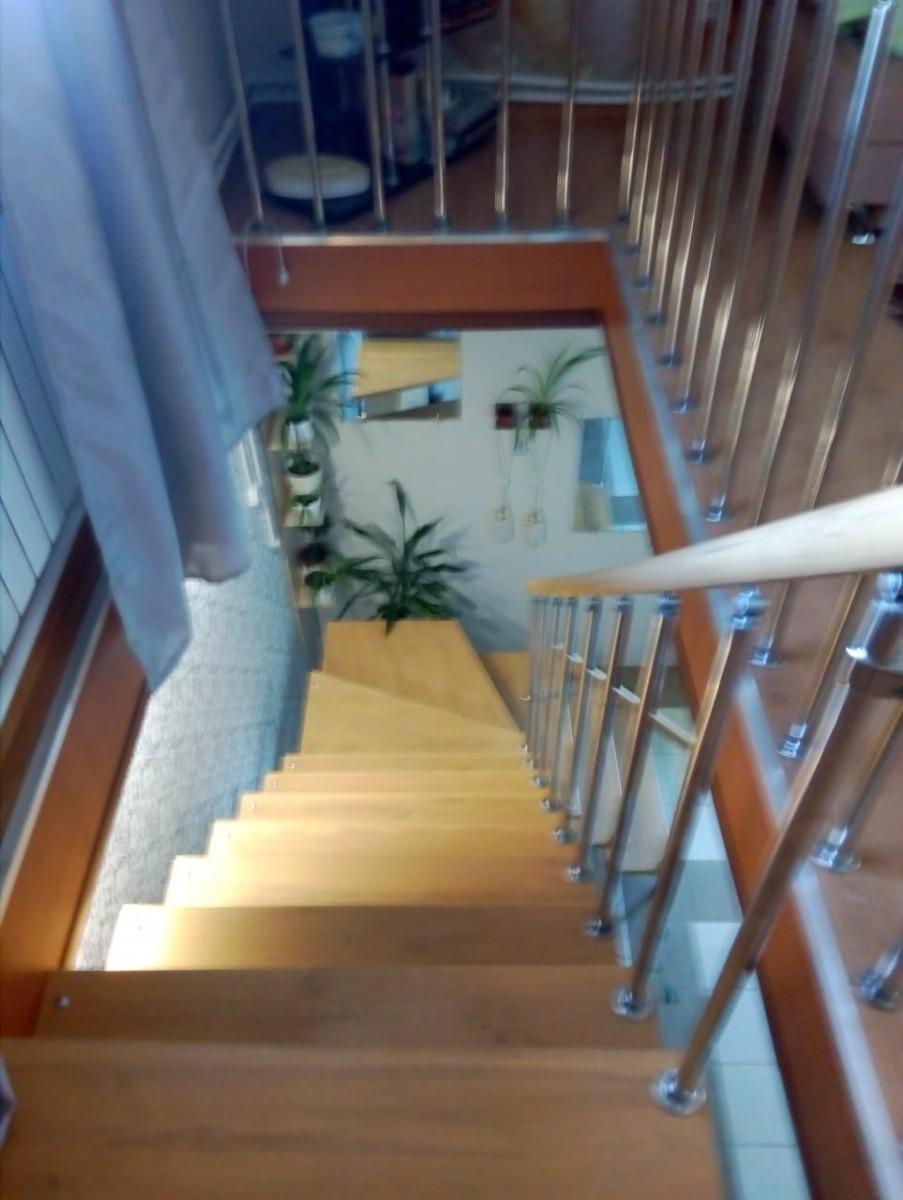 Модульная лестница высота 3150 мм (с поворотом 90°) высота ступени 225 мм