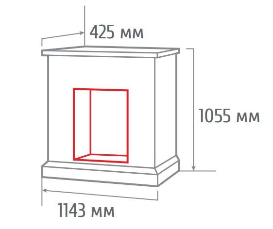 Электрокамин пристенный Stone Brick AO с FireField 25 S IR