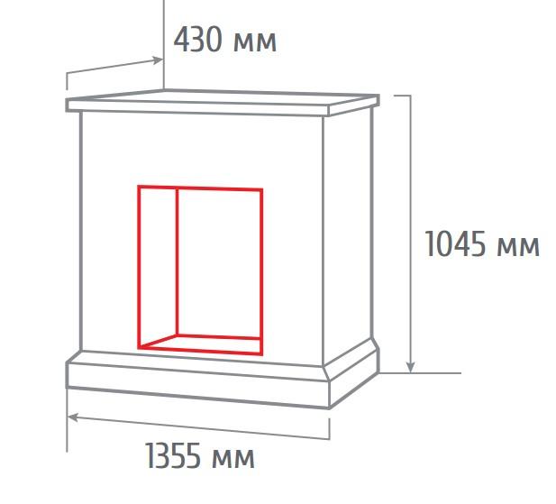 Электрокамин пристенный 3D Rockland AO с Cassette 630 3D