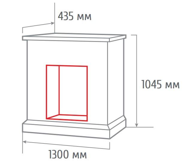 Электрокамин пристенный Sorento 25,5/26 с Helios 26 3D