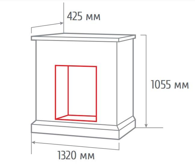 Электрокамин пристенный 3D Stone Brick AO с Cassette 630 3D