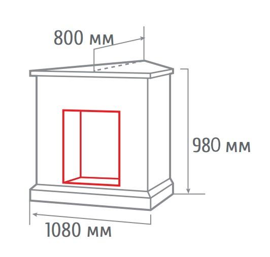Электрокамин угловой Athena GR corner WT с Evrika 25,5