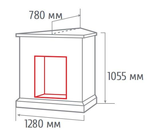 Электрокамин угловой Stone new corner AO с FireField 25 S IR