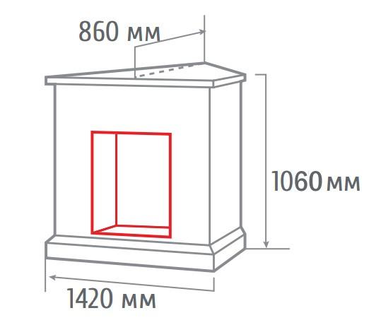 Электрокамин угловой 3D Stone corner new AO с Cassette 630 3D