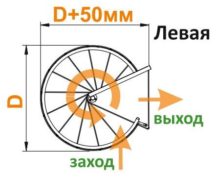 Винтовая лестница Spiral Color диаметр 140 см, бук