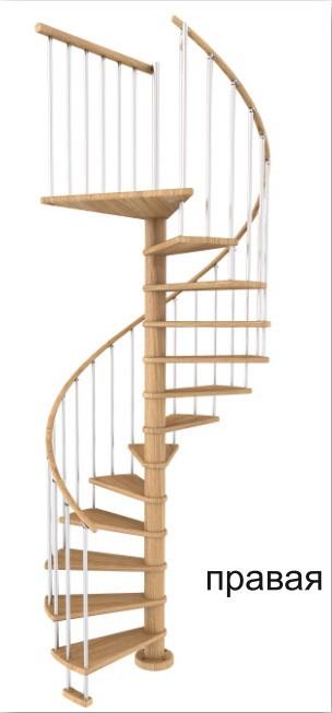 Винтовая лестница Spiral Color диаметр 120 см, бук