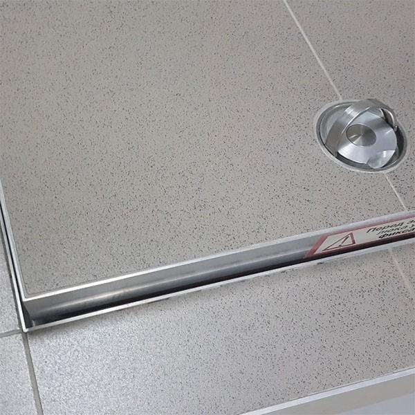 Напольный люк с амортизаторами 900*900*54 МАКС (Поворотная ручка)