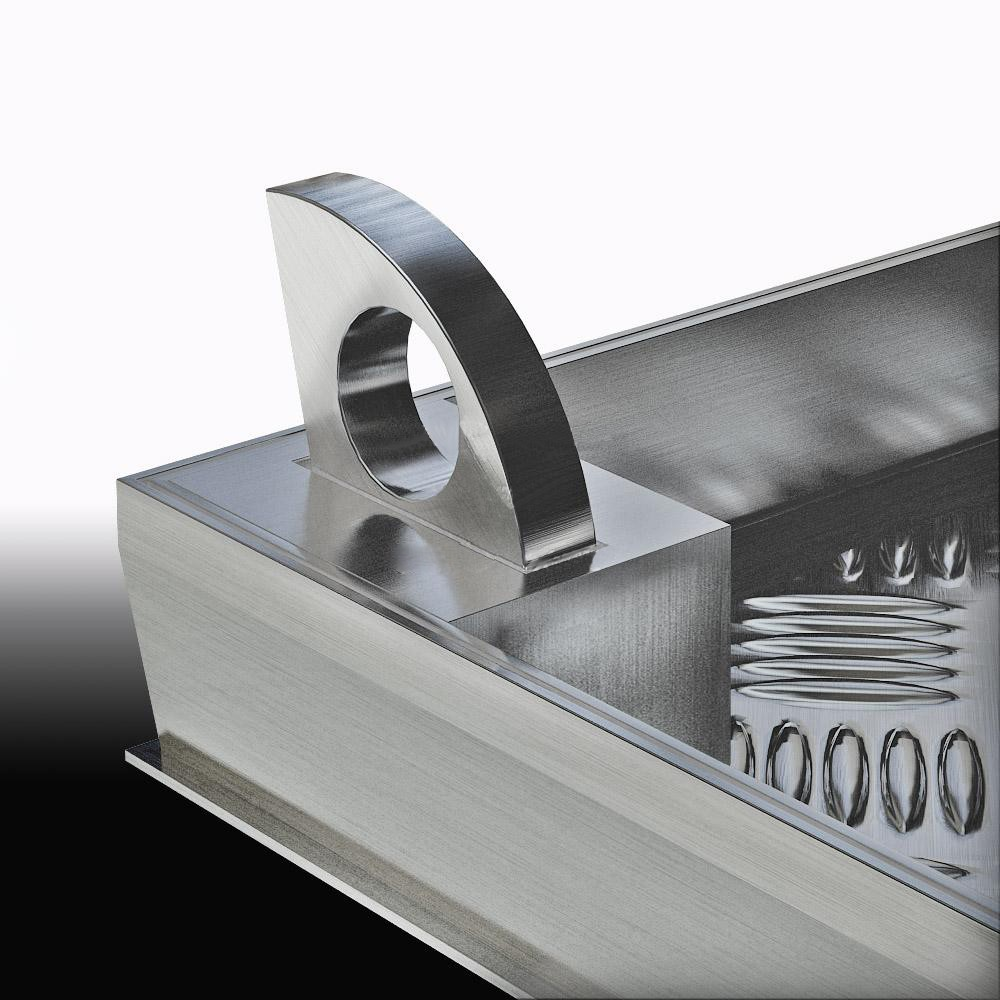 Напольный люк с амортизаторами 700*700*54 МАКС (Потайная защелка)