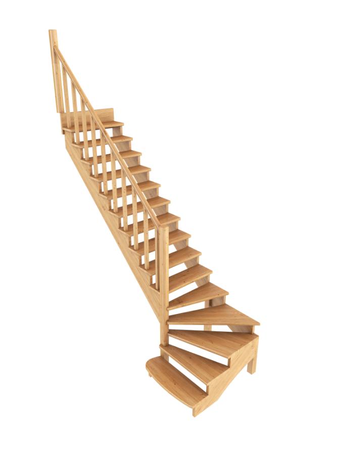 Лестница из сосны К-001м (вариант №8) Левая