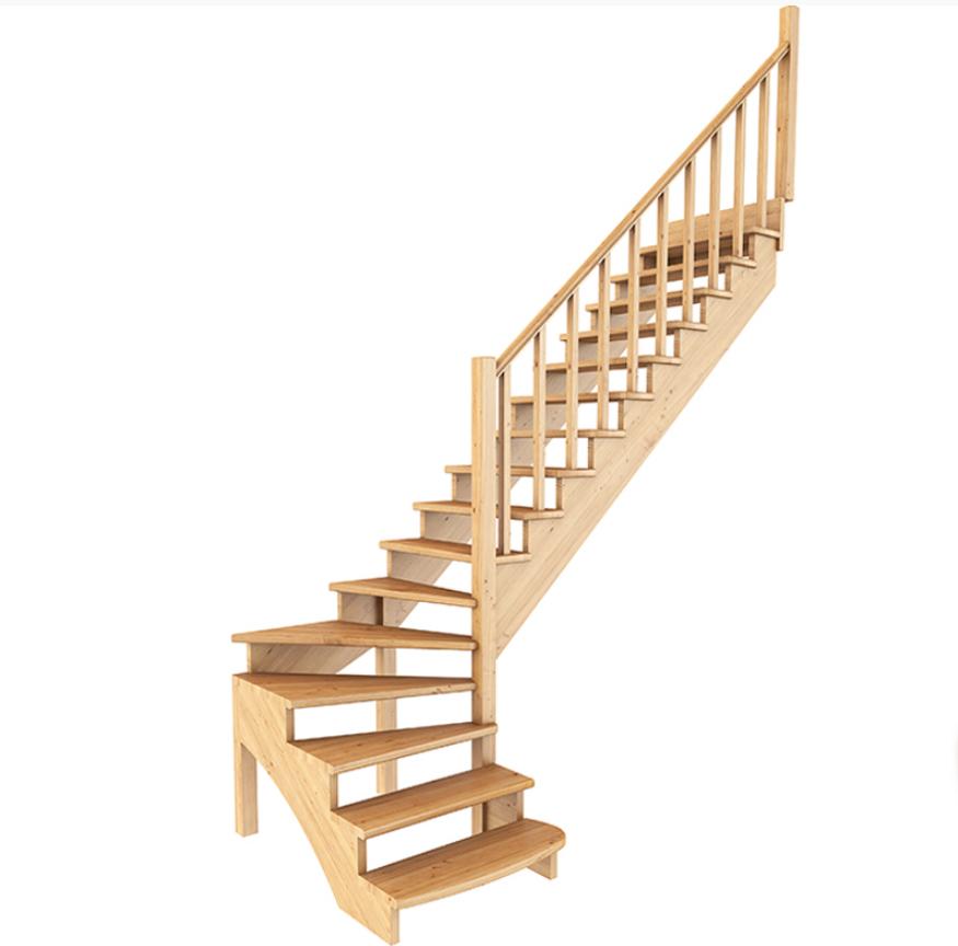 Лестница из сосны К-001м (вариант №5) Правая